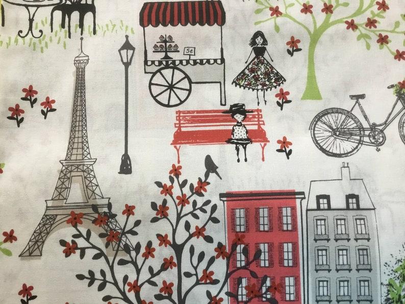Eco Friendly Eiffel Tower Bag Madeline Memories Washable France Bag Paris Life Lined Reusable Fabric ShoppingMarket Tote Bags