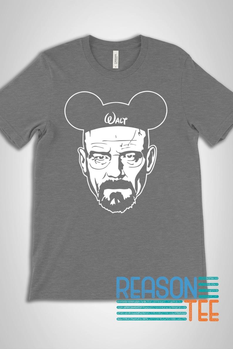 Disney Heinsenberg Unisex Premium Graphic Tees Disney Shirts Walter White Heisenberg Walt Shirt Walt White Shirt Walt Breaking Disney