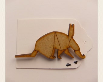 Origami Ant Eater Brooch