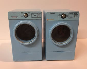 Washing Machine And Dryer Set. Samsung, Front Load 1 Inch Scale Dollhouse  Miniature