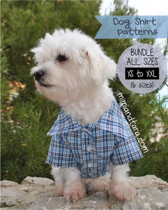 Dog Shirt Pattern Bundle All Sizes Dog Clothes Sewing Etsy
