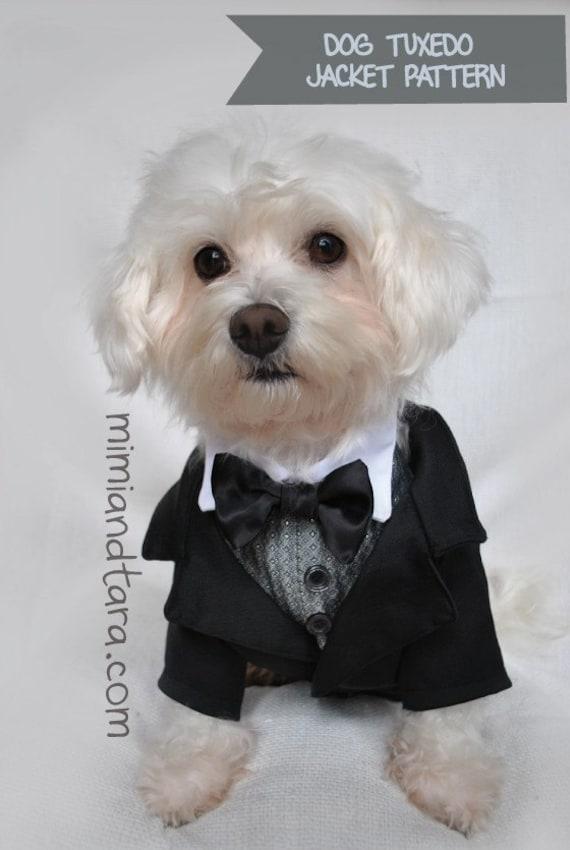 Dog Tuxedo Pattern Size Xs Dog Clothes Dog Clothes Pattern Etsy
