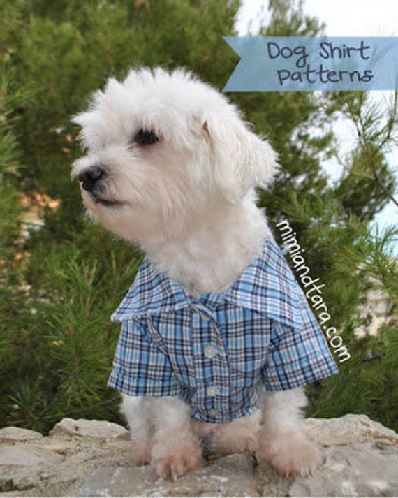 Dog Shirt Pattern size XS Dog Clothes Sewing Pattern Dog