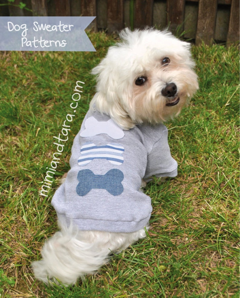Small Dog Sweater Pattern Size XS Dog Clothes Dog Clothes image 0