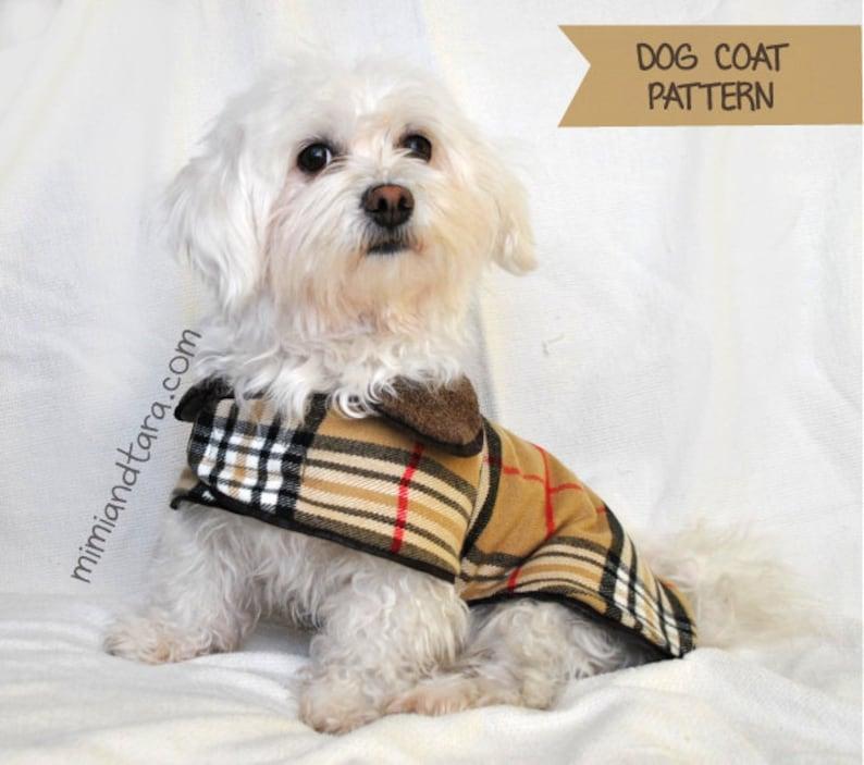 Dog Coat Pattern size XS Sewing Pattern Dog Clothes Pattern image 0