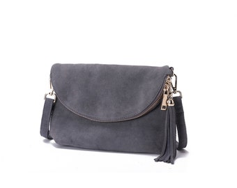 021d80e416bd Woodland Leather Grey Fold Over Suede 10.0