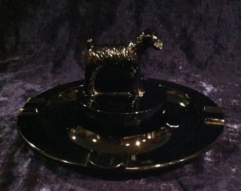 Vintage Fabulous Fifties Ashtray Scottie Dog / Terrier Ashtray