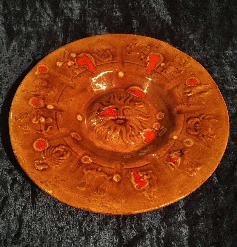 Vintage Large Zodiac Ashtray