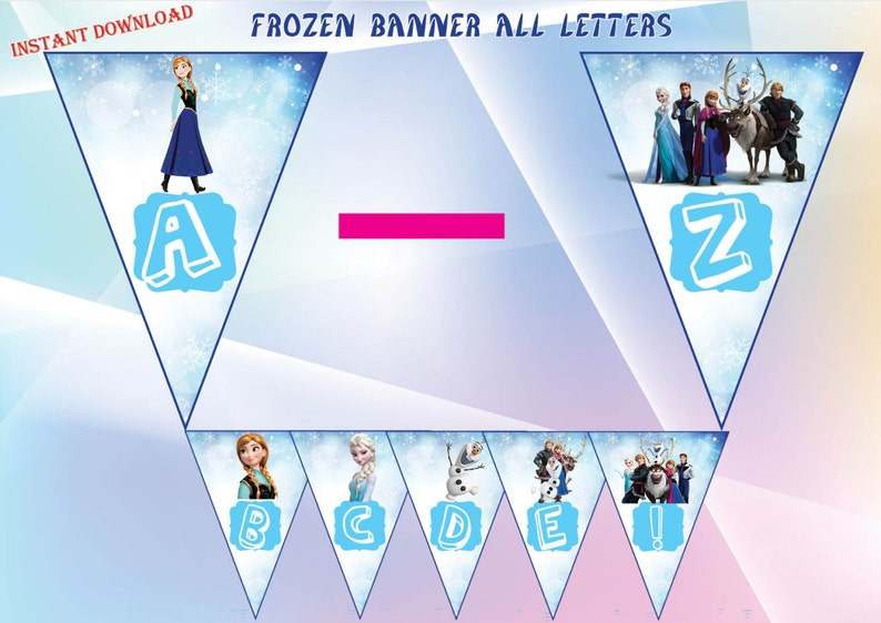 image relating to Frozen Banner Printable referred to as Frozen banner, Frozen celebration, Frozen Birthday - Printable , Immediate obtain