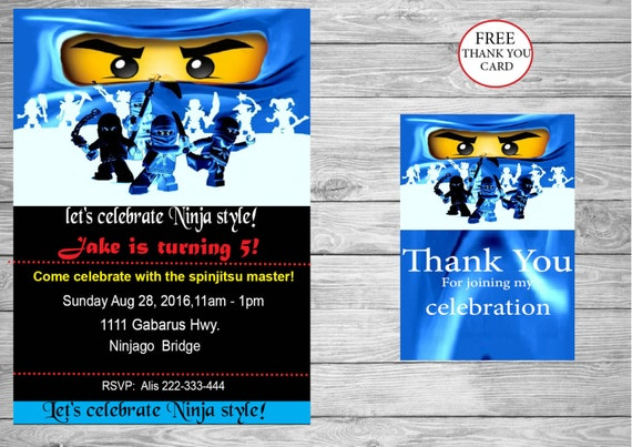 image about Printable Ninjago Eyes called Ninjago bash, Ninjago eyes Birthday invitation + No cost fast down load Thank oneself card, Ninjago eyes - Printable