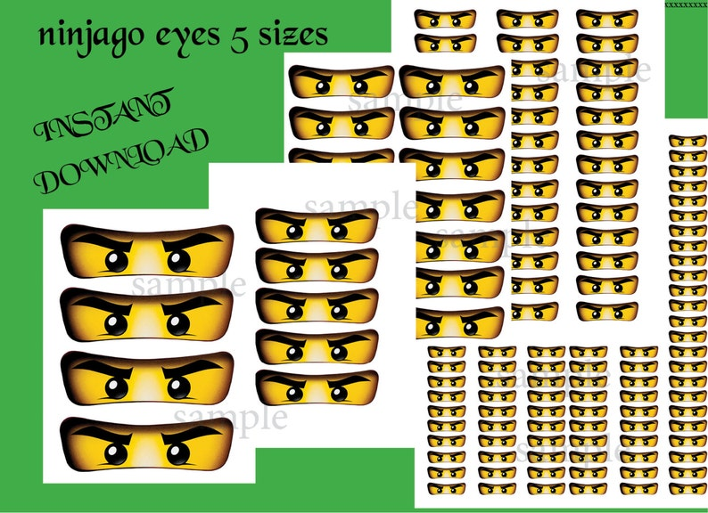 graphic about Ninjago Eyes Printable named Quick DL- Ninjago eyes, Ninjago for Balloon, Stickers, Lollipop, Want baggage, Cups - Ninjago birthday celebration (Fastened of 5 measurements)