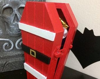 Santa Coffin, Free Standard U.S. Shipping.