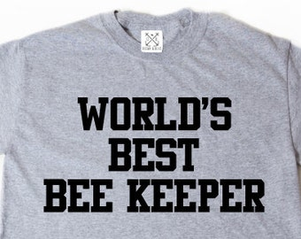 World's Best Bee Keeper T-shirt Funny Bees Beekeeper Apiary Bee Lover Shirt