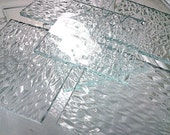 Sheet - CLEAR quot ICE quot TEXTURED Transparent Stained Glass F24