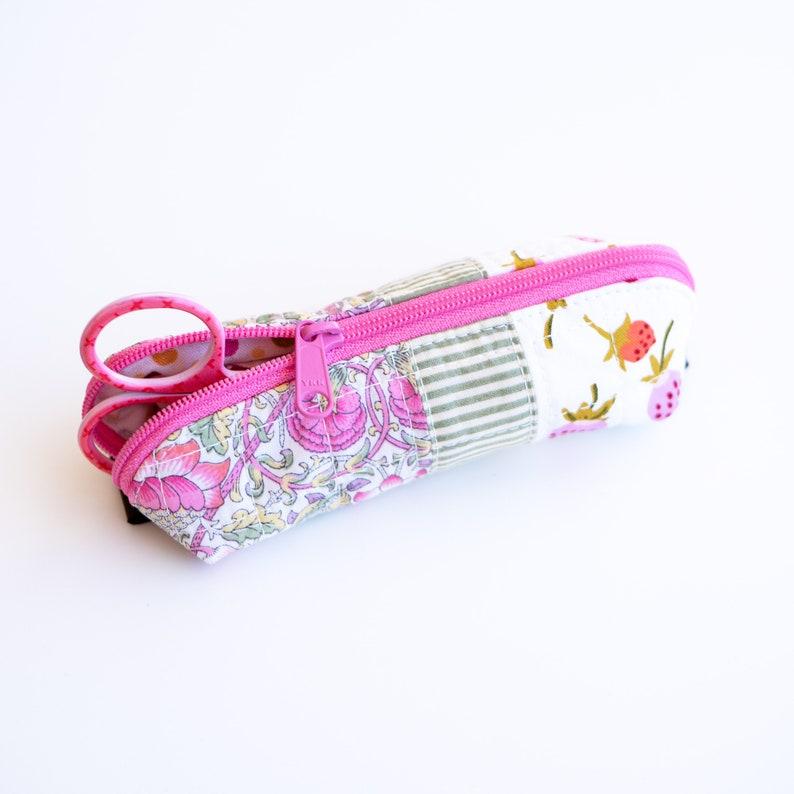 Tiny Scissors Pouch Teensy Pretzel Pouch  Arabesque Scissors image 0