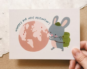 Next Destination - Squeaky Postcard
