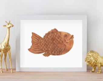 Taiyaki - Mandie's Food Illustration Art Print