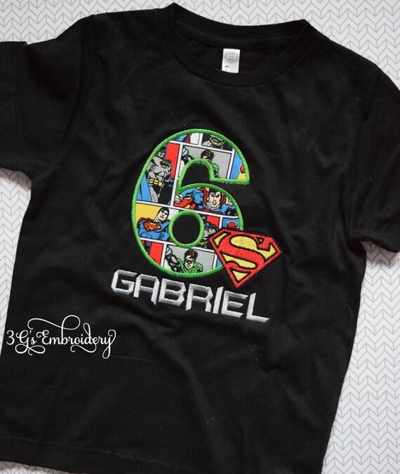 Birthday Shirt Justice League DC Comics Toddler