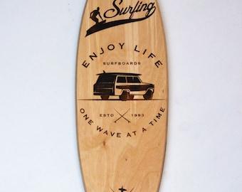 surfboard sign - surfboard wall decor - surfboard wall art - surfboard decor - surfboard art