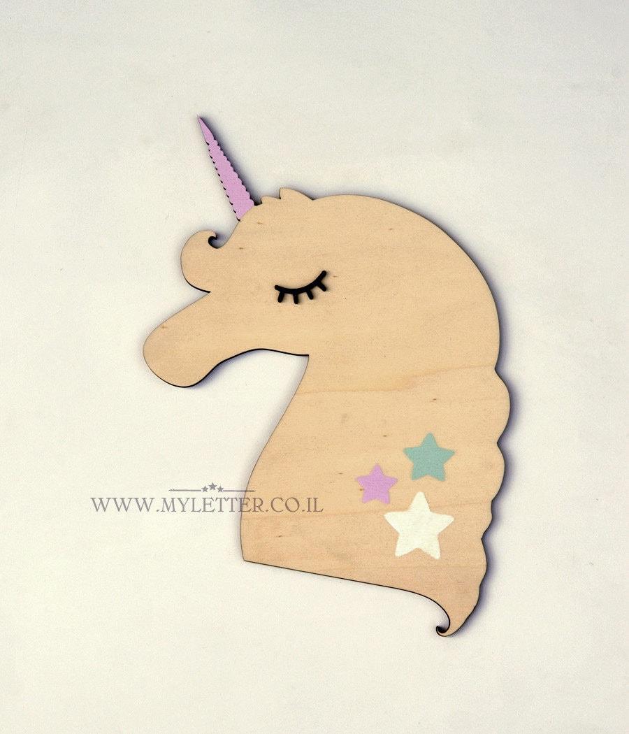 Unicorn Wall Art girls room decor Wooden unicorn nursery | Etsy