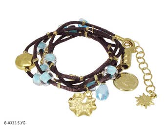 Crystal Wrap Bracelet, Leather Wrap, Bracelets for Women, Turquoise Jewelry, Boho Leather, Turquoise Wrap Bracelet, Girlfriend Jewelry,