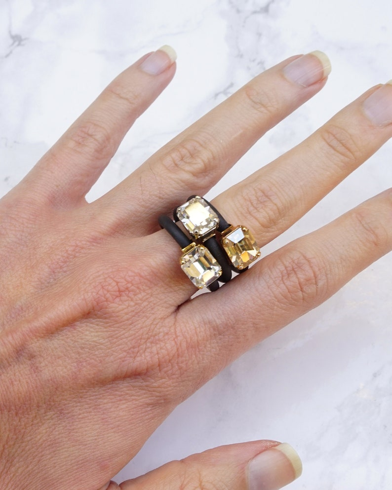 Size 6.75 \u2013 Handmade Gold /& Amazonite Ring
