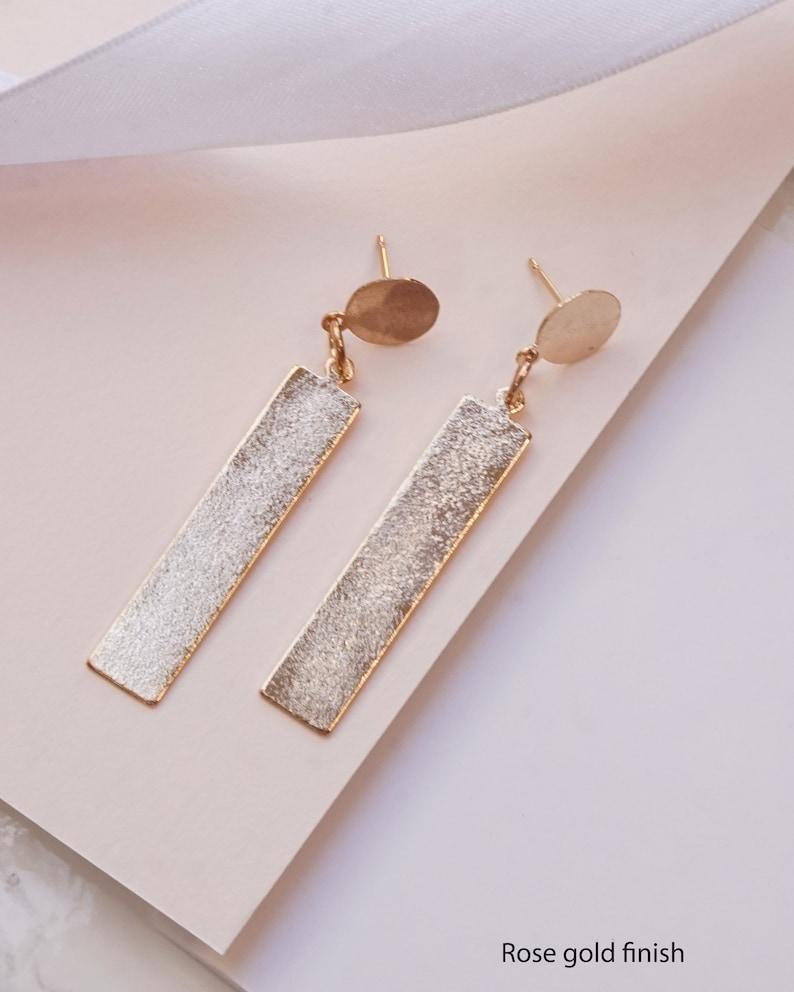 Bar Earrings For Women Gold Earrings For Women Bar Drop Earrings Gold Modern Earrings Geometric Earrings For Women Gold Bar Earrings
