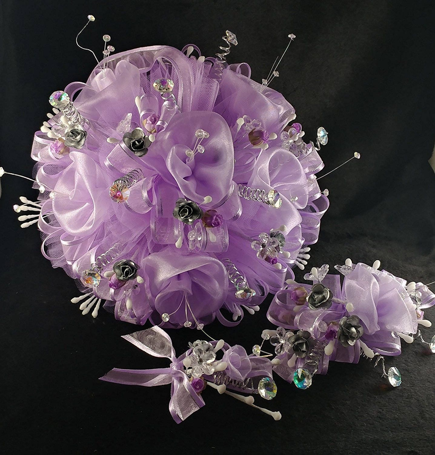 15th Quinceaera Lavender Light Purple Flowers Bouquet With Etsy