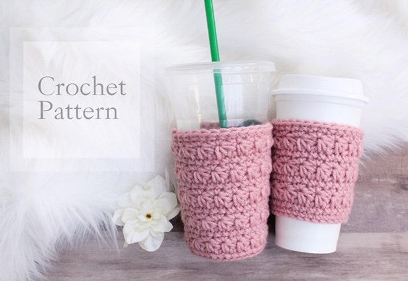 Star Stitch Coffee Cozy Pattern PDF PATTERN Digital File image 0