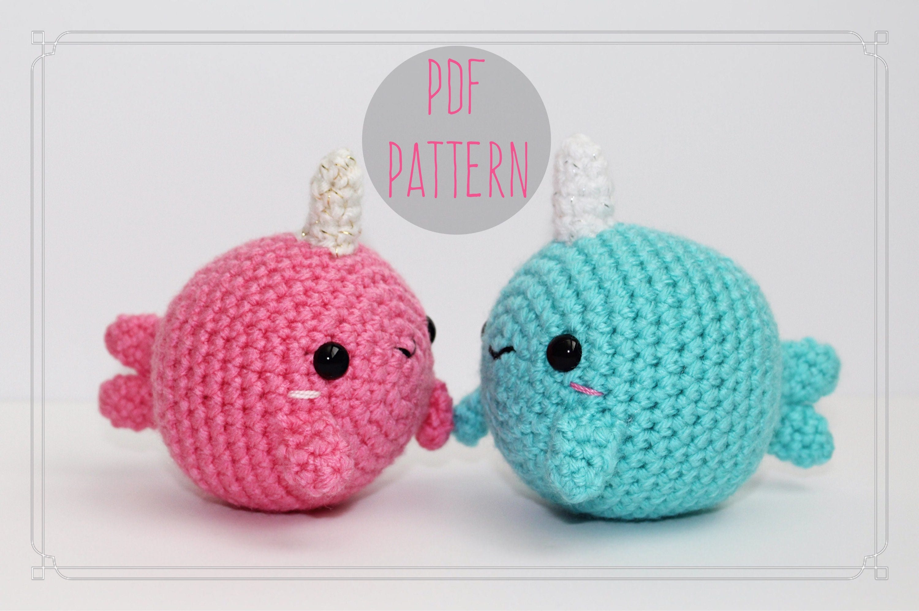 Wally & Narissa Narwhal PATTERN ONLY - Amigurumi Narwhal Pattern ...