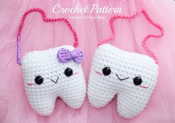 Crochet Tooth Amigurumi | Etsy | 401x570