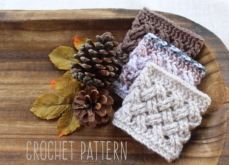 Classic Coffee Cozy Pattern PDF PATTERN Digital File ONLY image 0