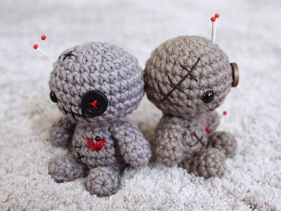 Crochet voodoo doll Halloween voodoo Amigurumi voodoo doll Gift ...   427x570