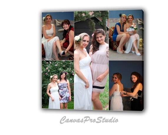 Leinwand Foto Collage Geschenk Brautjungfern Hochzeit Bilder Etsy