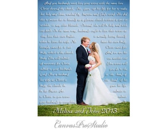 Paper print, Fine art paper print, Photo to paper, wedding photo with Lyrics.