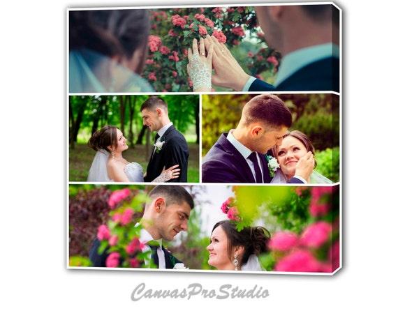 Leinwand Foto Collage Geschenk Personalisierte Hochzeit Etsy