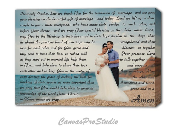 Prayer For A Newly Married Couple On Canvas Custom Canvas Etsy