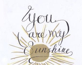 Hey Sunshine Postcard Print