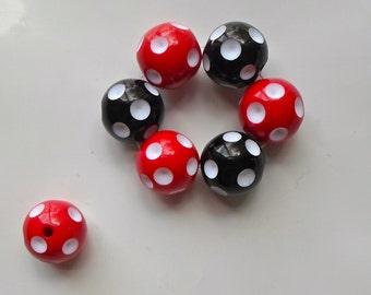 10 Velvet Black Beads Felt Ball Round 24mm Craft Jewellery Making