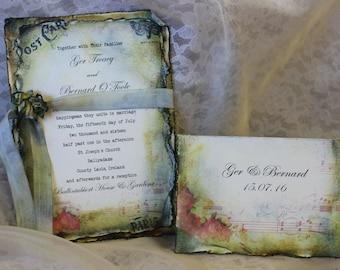 Shabby Chic Vintage Wedding Invitation