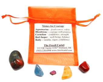 Stones for Courage Healing Pouch