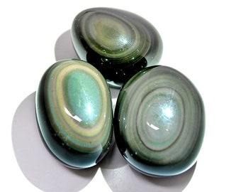 """Rainbow Obsidian Polished """"Pebble"""""""