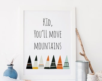 Mint And Coral And Gold Oh The Places Youll Go Dr Suess Etsy