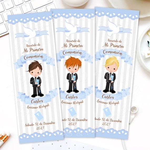 Recuerdos De Primera Comunion Printable First Holy Communion Bookmark Favors Boys First Communion Favors First Holy Communion Gifts By Lythium Art Catch My Party