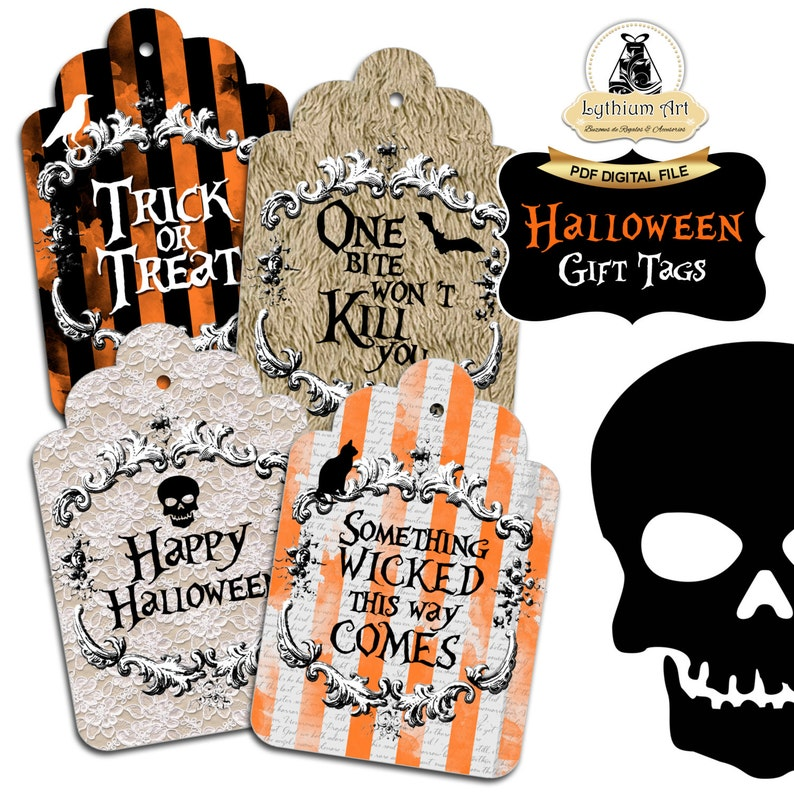 Halloween Gift Tags.Halloween Tags Halloween Gift Tags Printable Tags Instant Download Halloween Decorations Halloween Printables Gift Tag Halloween Gift