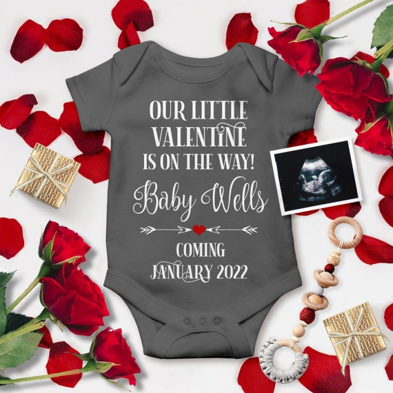 Valentines baby announcement digital for social media Announcing pregnancy on Valentines day