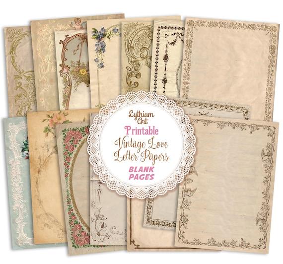 Digital Download Junk Journals Scrapbooking Collage Sheet Printable Floral /& Blue Tags Romantic