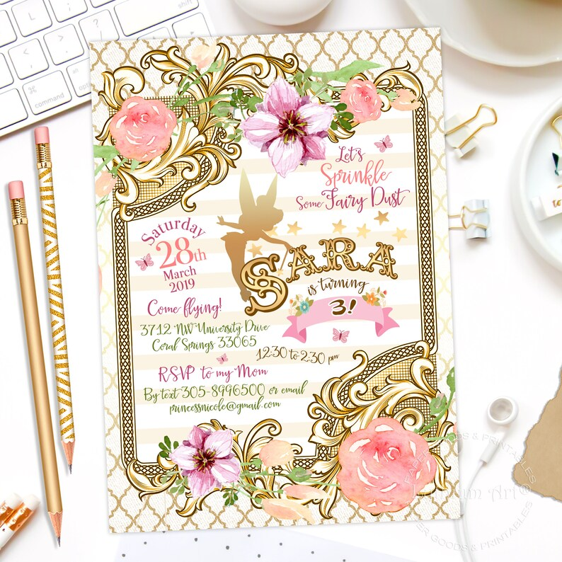 Fairy Invitation Birthday Printable