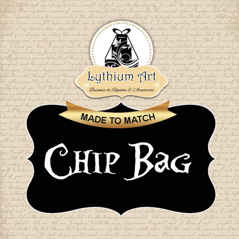 Treat Bag Digital File Custom Chip Bag Add Matching Chip Bag Chip Bag Custom Design Chip Bag Design Party Favors Printable Chip Bag