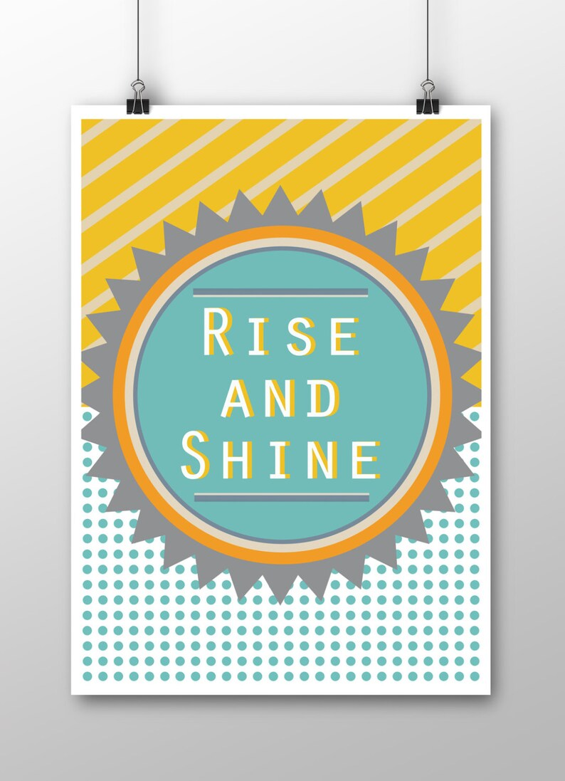 Rise and Shine/You are my sunshine A4 Prints image 0